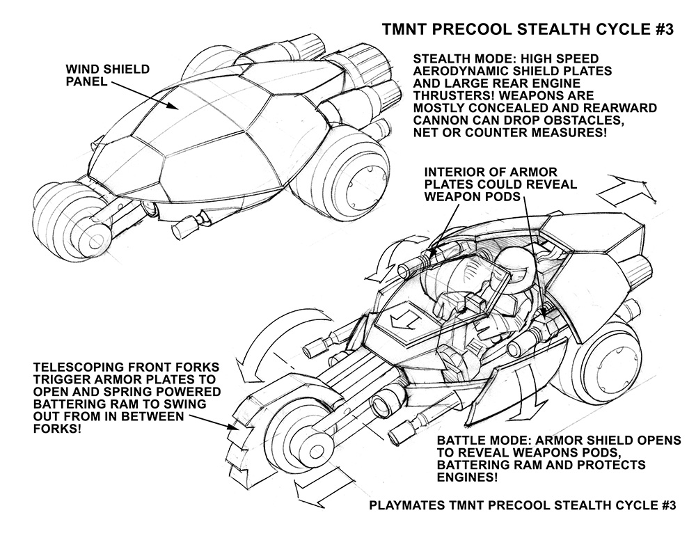 TMNT PreCool StealthCycle 3