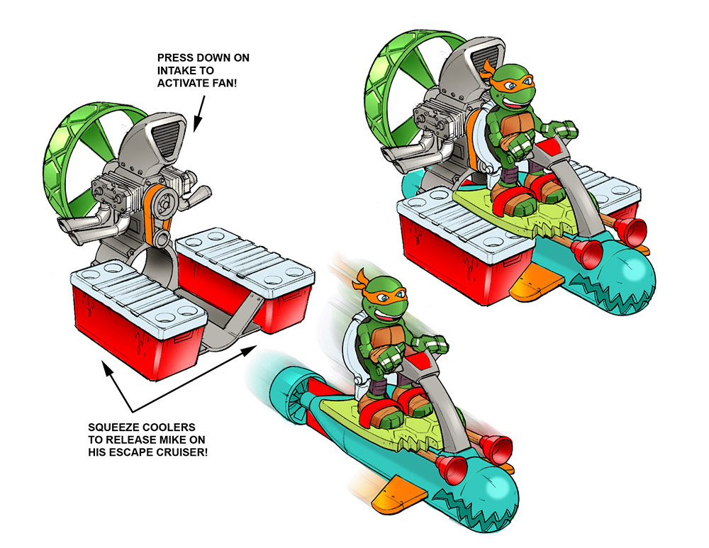 TMNT Sewer Cruiser color callouts