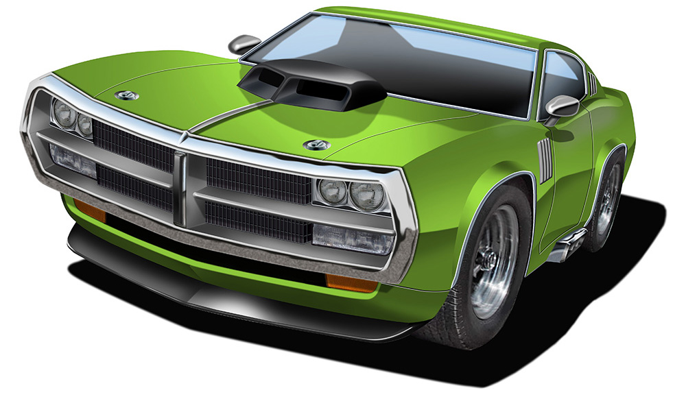 FF Muscle Car 1 lime green